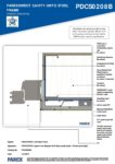 PDCS0208B – Window Jamb Detail 2D – Steel RESISTANT MR