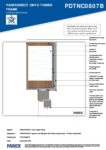 PDTNC0807B – Window Head Detail 2D – Timber RESISTANT MR