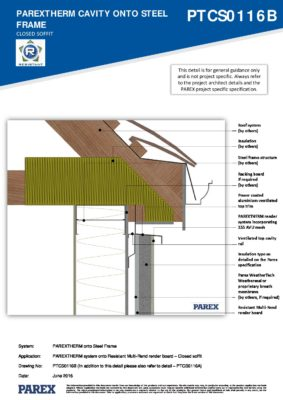 PTCS0116B – Closed Soffit 2D – Steel RESISTANT MR