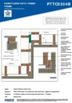 PTTC0304B – Stepped & Staggered Wall 2D – Timber RESISTANT MR