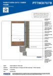 PTTNC0707B – Window Head Detail 2D – Timber RESISTANT MR